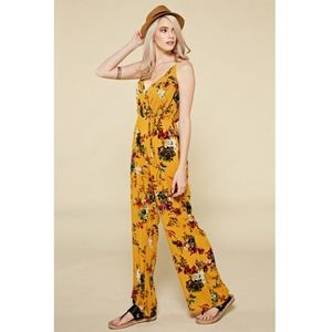 Pants - NWT Floral Jumper with Crisscross back straps